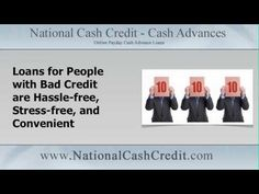 National Cash Credit Perfect Loans for People with Bad Credit https://youtu.be/f_Nm8x2o6o0 #CashLoans Apply at http://www.nationalcashcredit.com/