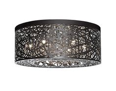 510108BZ | Stephanie 20 Inch 8 Light Bronze Flushount - 510108BZ