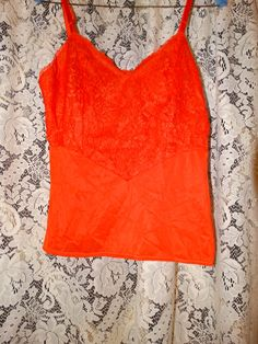 Hey, I found this really awesome Etsy listing at https://www.etsy.com/listing/202511669/vintage-1950s-classic-orange-lace