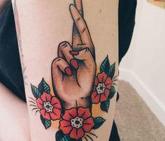 Fingers Crossed Tattoo