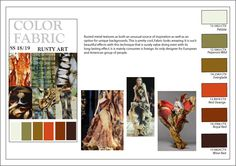 Fashion Forecaster- Shehjadi. COLOR & FABRIC BOARD, SS 18/19,RUSTY ART  //TRENDS// TEXTURE # COLOR # PATTERN