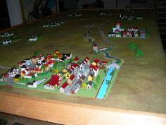 Campo di battaglia di Jena-Auerstadt con la città di Jena in primo piano