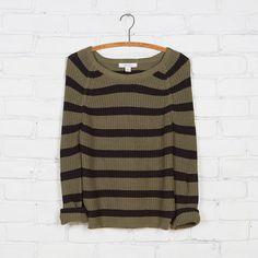 Adam Levine Shaker Stitch Striped Sweater