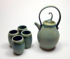Copper Green Tea Set... hand crafted by a super talent from Waukesha!