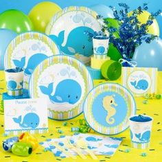 Whale Baby Shower Supplies