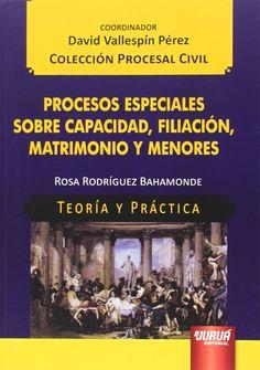 Procesos especiales sobre capacidad, filiación, matrimonio y menores / Rosa Rodríguez Bahamonde. - 2014