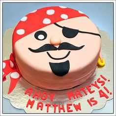 Pirate Cake for Matt's first birthday!!!