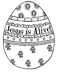 Jesus Is Alive Bible Coloring Page Easter Palmsunday