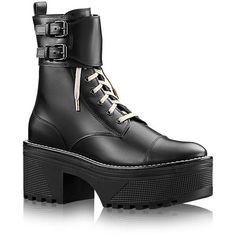 Louis Vuitton Fighter Platform Half Boots as seen on Ashley Tisdale Buckle Boots, Combat Boots, Lambskin Leather, Calf Leather, Leather A Line Skirt, Louis Vuitton Boots, Goth Boots, Shoe Boots, Shoe Bag
