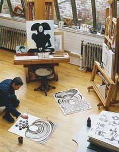 Ruben Toledo's studio.