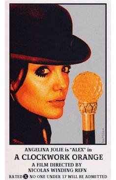 Poster vintage de Filmes Famosos com Celebridades