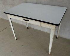Vintage kitchen table metal