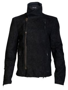 damir doma - fitted leather jacket