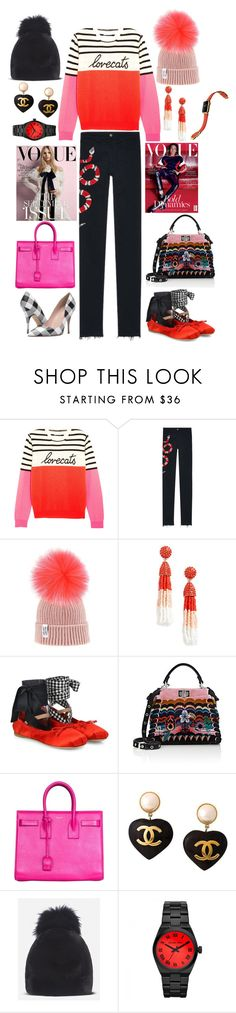 """Actually."" by kappiblu on Polyvore featuring Chinti and Parker, Gucci, BaubleBar, Miu Miu, Fendi, Yves Saint Laurent, Chanel, Michael Kors and Kate Spade"