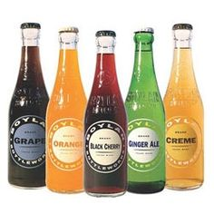 Glass bottle sodas at a trendy outdoor party are a must.  #designsponge #dssummerparty
