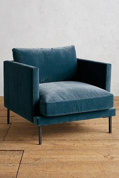 Velvet Linde Chair - anthropologie.com