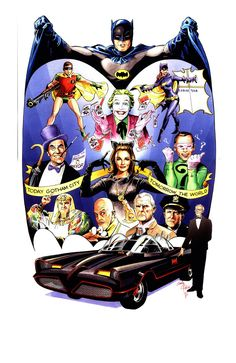 Batman 1966 Anniversary by Andy Price Batman Robin, Batman 1966, I Am Batman, Batman Art, Batman Poster, Gotham Batman, Superman, Batman Tv Show, Batman Tv Series