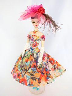 OOAK Silkstone Barbie Outfit Fashion Dress Hat by WideEyedGirls