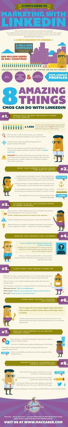 Top tips for #marketing on #LinkedIn - great tips from this #infographic!