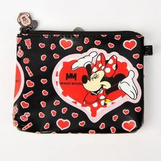 "Minnie Mouse Coin Purse Change Pouch Small Wallet by Mickey Mouse. $8.00. Length x Width x Depth: 4.5"" x 3.7"" x 0.5""  (11.5 x 9.5 x 1.3 cm). Color: As picture. ·Coin purse with Minnie Mouse pattern on it, very cute   ·Made of high quality leather-like material, very durable   ·One main compartment with zipper closure, perfect for holding your coins, candies, cards, etc   ·Mini size, easy to carry in your handbag/clutch bag/satchel bag and will not occupy too many space   ·V..."