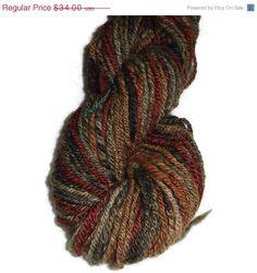 Christmas in July Luxury Handspun Hand Dyed 3-ply  Shetland Wool Yarn Worsted EU SELLER
