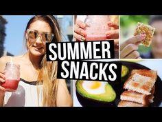 ▶ DIY Healthy Summer Snacks: Breakfast & On the Go Snacks! | LaurDIY - YouTube