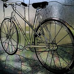 stained glass bicycle