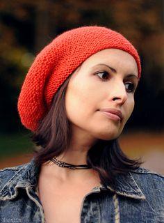Grey slouchy knit hat Slouchy knit beanie Womens by Nastiin