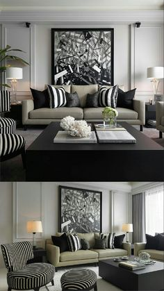 Decorate your home with style find our biggest decor inspiration our selection of bedroom decor living room decor dining room trends bathroom decor contemporary furniture! Living Room Colors, Living Room Grey, Living Room Interior, Home Living Room, Living Room Designs, Apartment Living, Black White And Grey Living Room, Apartment Furniture, Formal Living Rooms