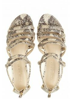 Camilla Embossed Leather Sandal
