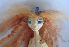 NOLIE, Woodland Elf, paper clay ball jointed doll, handmade, ooak