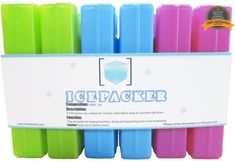 Ice Packs (6 Pcs) - Cool Reusable Freezer Pack - Latest Colorful Cold Packs - Keep Your Food and Beverage Fresh and Cold - Ice Pack for Lunch Box >>> More info could be found at the image url.