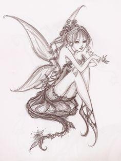Fairies Clip Art | Flower Fairy Art 020912» Vector Clip Art