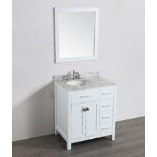 Single Bathroom Vanity Set With Mirror By Bosconi