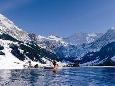 Amazing hotel pool - The Cambrian Adelboden Hotel, Swiss Alps