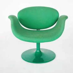 Vintage tulip chair. Love the shade of green too.