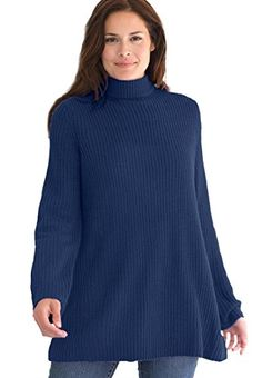 Women's Plus Size Sweater, pullover swing style, in Shaker stitch with mock Woman Within http://smile.amazon.com/dp/B00ND9EU1U/ref=cm_sw_r_pi_dp_ogRDub1BXA02N