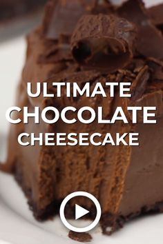 Ultimate Chocolate Cheesecake made by Baker by Nature.