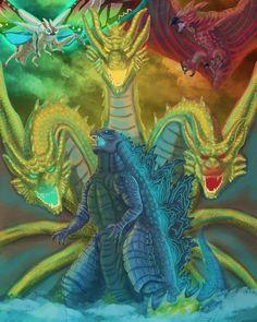No photo description available. Criaturas Míticas, Monstruos, Acero, Dragones, Animales, Fotografia, Datos, Dibujo, Fondo De Pantalla De Godzilla