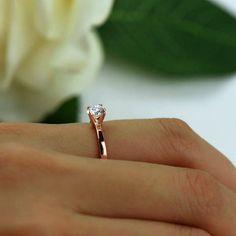 1/2 ct Promise Ring Verlobungsring Solitär-Ring von TigerGemstones