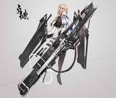 Safebooru is a anime and manga picture search engine, images are being updated hourly. Fantasy Character Design, Character Concept, Character Inspiration, Character Art, Fantasy Characters, Anime Characters, Arte Cyberpunk, Anime Weapons, Robot Girl