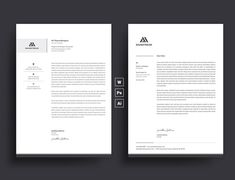 Letterhead Template with super modern and Corporate look. Corporate Letterhead page designs are very easy to use and customize, so you can quickly tailor-make your letterhead for any opportunity. Use this letterhead template for company or corporate use. Company Letterhead, Letterhead Design, Letterhead Template, Resume Templates, Photoshop Illustrator, Adobe Photoshop, Professional Letterhead, Business Stationary, Cover Letter For Resume