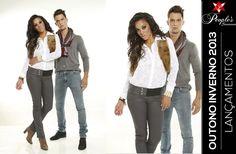 Conheça mais dois lançamentos de calças femininas e masculinas da People's Jeans para o inverno 2013