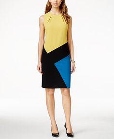 Nine West Colorblocked Sheath Dress - Dresses - Women - Macy's