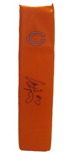 Alshon Jeffery signed Chicago Bears full size football touchdown end zone pylon w/ proof photo.  Proof photo of Alshon signing will be included with your purchase along with a COA issued from Southwestconnection-Memorabilia, guaranteeing the item to pass authentication services from PSA/DNA or JSA. Free USPS shipping. www.AutographedwithProof.com is your one stop for autographed collectibles from Chicago sports teams. Check back with us often, as we are always obtaining new items.