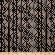 Hopi Trail Monotone Stripe Tan from @fabricdotcom  Designed by Whistler Studios for Windham Fabrics, this cotton print fabric is perfect for quilting, apparel and home decor accents. Colors include black and tan.