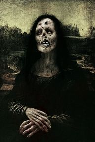 This is so epic that I'm almost in tears.  Zombie Mona Lisa