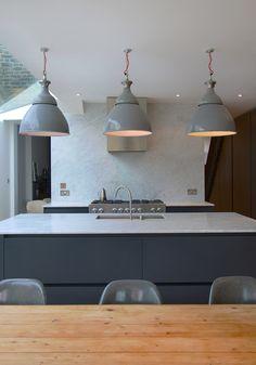 Roundhouse Urbo bespoke kitchen Bespoke Kitchens, Grey Kitchens, Cottage Kitchens, Home Kitchens, Maple Kitchen, Minimal Kitchen, Functional Kitchen, Island Design, Round House