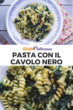 My Recipes, Italian Recipes, Healthy Recipes, Cavolo Nero Recipe, Quick Bread, Kale, Pasta Salad, Sweet Treats, Good Food