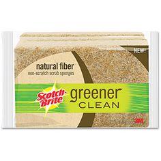 #walmartgreen Scotch-Brite Greener Clean Natural Fiber Scrub Sponges, 3 Pack